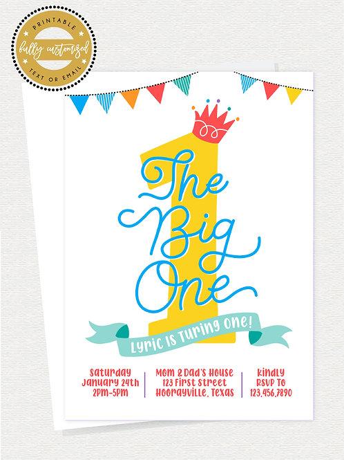 The Big One Invite