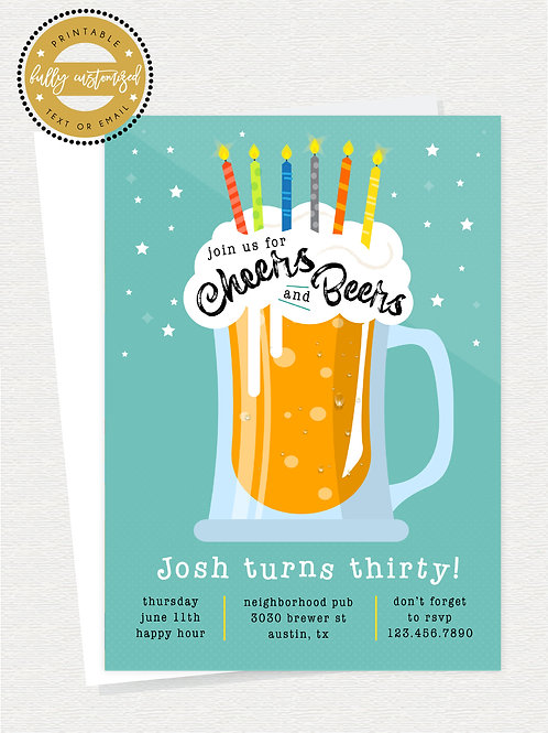 Cheers & Beers Invite