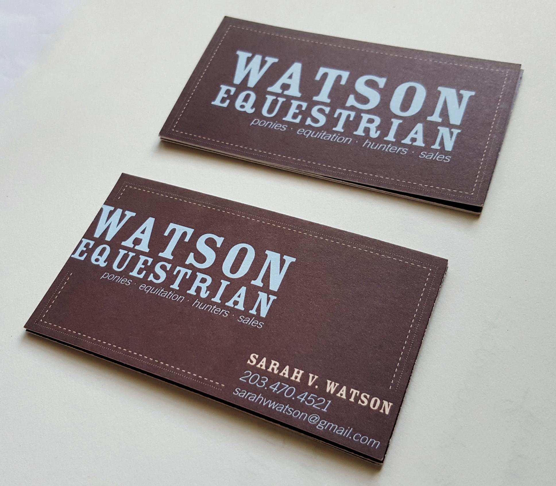 Watson-Equestrian-logo-business-card