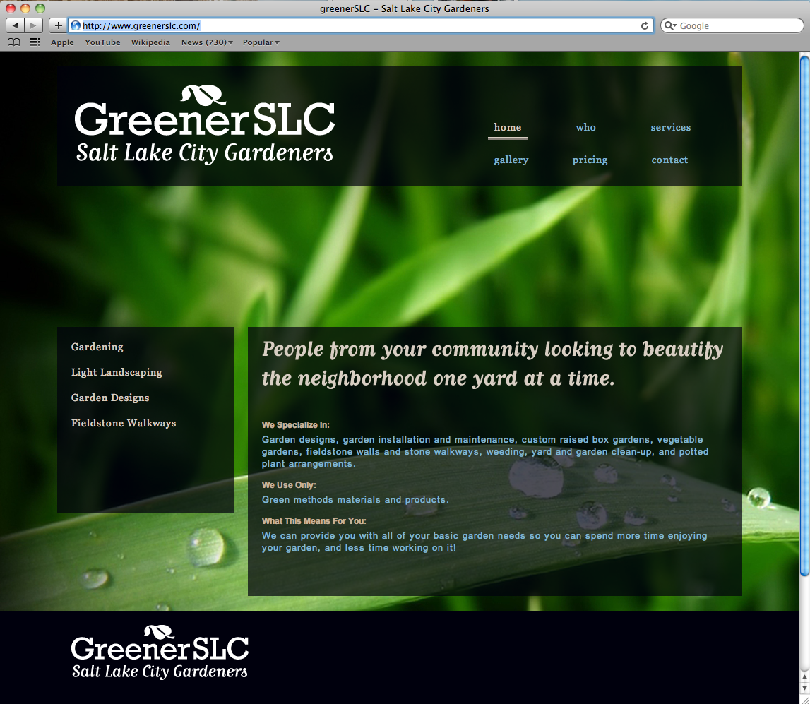 GreenerSLC landscape company website