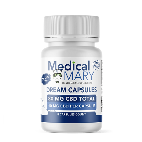 Dream CBD – Sleep Aid with Lemon Balm Leaf, Valerian Root & Melatonin – 10 MG CB