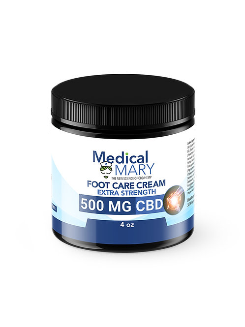 Foot Care Cream with Natural Oils – 500 MG CBD