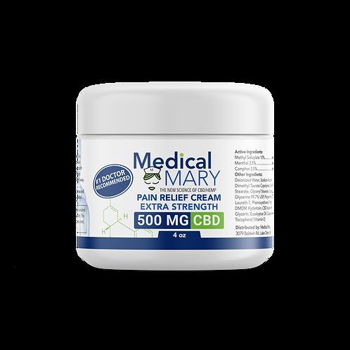Extra Strength Pain Relief Cream 500 MG