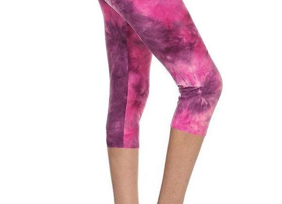 Pink Tie Dye Capri (14-20)