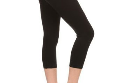 Solid Black Capri 3X-5X (24-32)