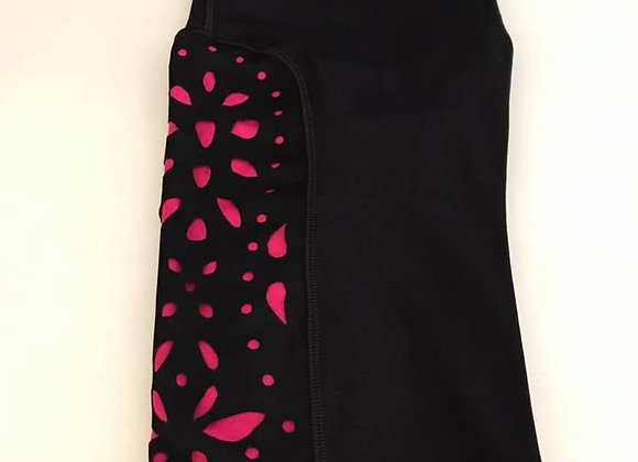 Hot Pink Cutout Yoga Waist L/XL (9-16)
