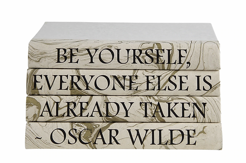 "4 vol. On Gold Marble ""Be Yourself..."