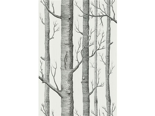 Wallpaper / Woods Wallpaper in Onyx/White By Cole & Son