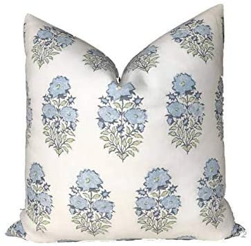 Mughal Flower Pillow Cover