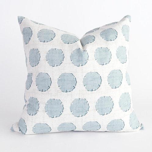 Nate Stonewash Blue Pillow Cover