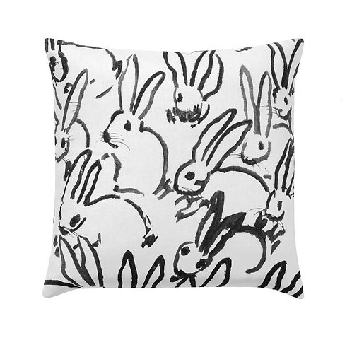 Black & White Hutch Bunny Pillow Cover