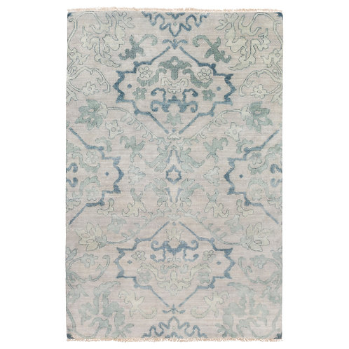 Hillcrest Aqua Hand Knotted Wool Rug By Surya
