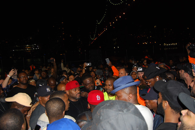 """NASIR"" album premiere in Queensbridge - Kanye West"