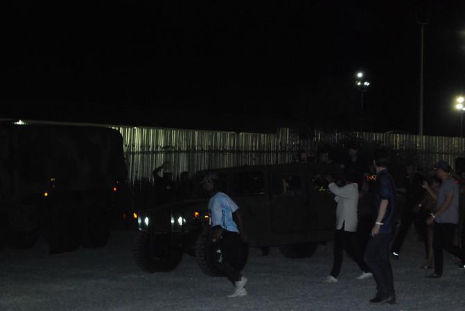 Nas and Kanye Arrive in HUMMER