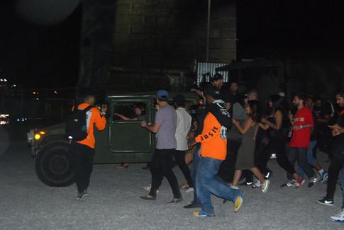 Nas and Kanye Arrive in HUMMER II