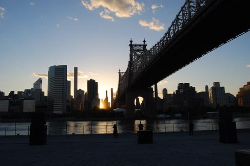 "Sunset under the ""Ed Koch Queensboro Bridge"""