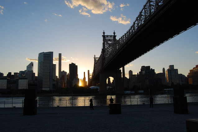 "Sunset under the ""Ed Koch Queensboro Bridge"""