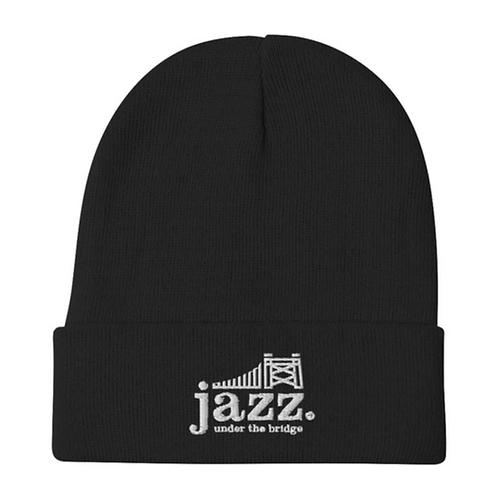Jazz Under the Bridge embroidered logo beanie