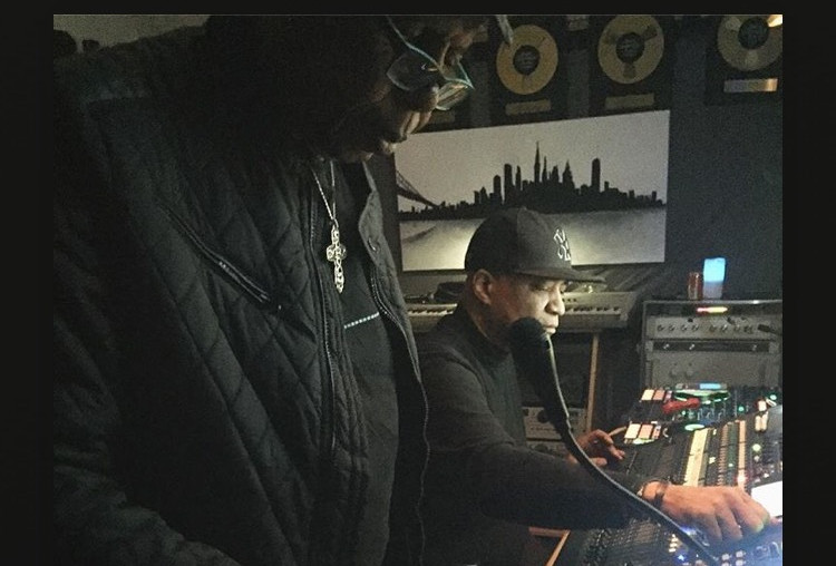 In the studio with Edwin Birdsong and DJ Marley Marl at the House of Hitz, Chestnutridge New York, 2017.