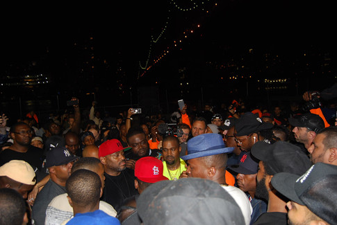"""""""NASIR"""" album premiere in Queensbridge - Kanye West II"""