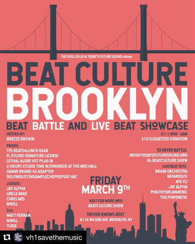 After years of communcations and long awaited speculation, we finally linked up with our Bay Area family, The Soul Dojo, for the first annual Beat Culture Brooklyn Showcase with Today's Future Sound. Photos by Nefarious! of The Soul Dojo.