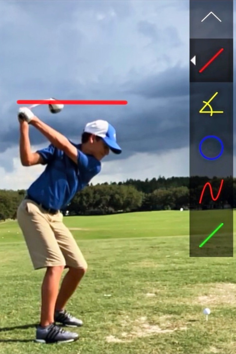 Golf instruction feedback.
