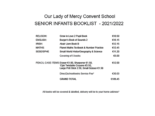 Our Lady of Mercy Senior Infants