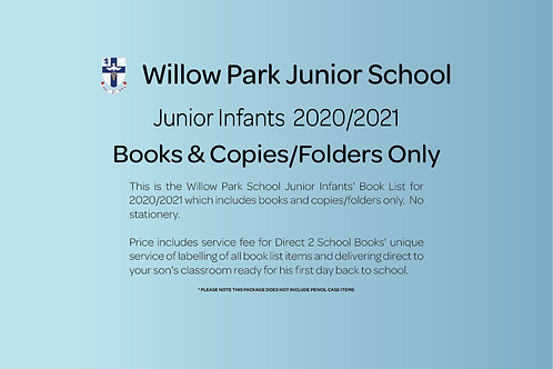 Junior Infants Books & Copies (no stationery)