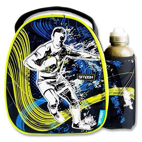 Smash Lunch Bag & 500ml Bottle -Rugby