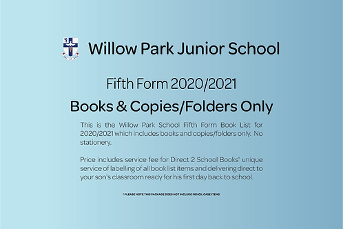 Fifth Form Books & Copies Only (no stationery)