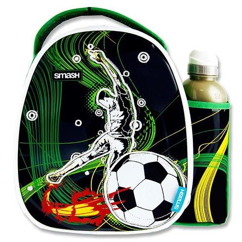 Smash Lunch Bag & 500ml Bottle - Soccer