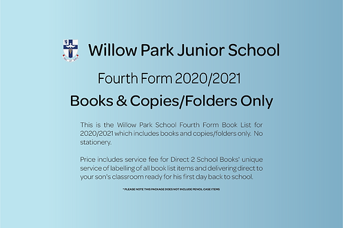 Fourth Form Books & Copies Only