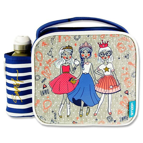 Smash Lunch Bag & 350ml Bottle - Bff Princesses
