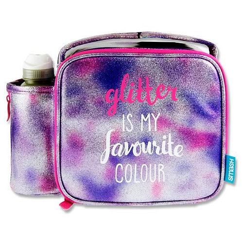 Smash Lunch Bag & 350ml Bottle - Glitter Is My Fave Colour