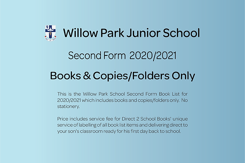 Second Form Books & Copies Only (no stationery)