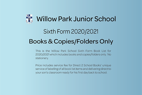 Sixth Form Books & Copies Only (no stationery)