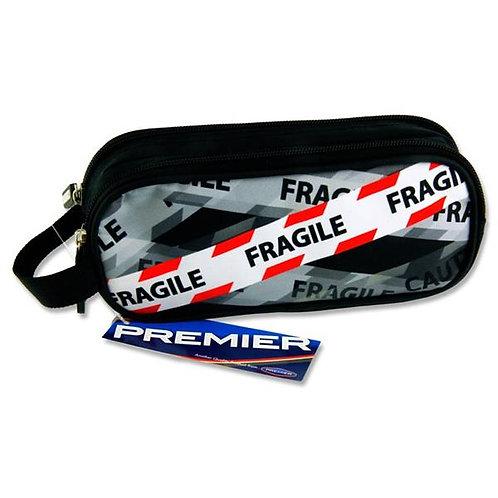 Oval 2 Pocket Pencil Case - Fragile