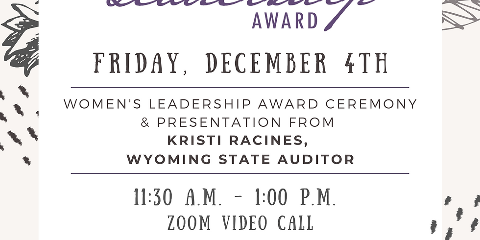 Women's Leadership Award Presented by Suzanne Cork State Farm