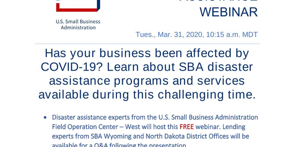 SBA COVID-19 Disaster Assistance Webinar