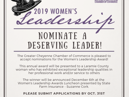 Women's Leadership Nominations Deadline is October 31st - Nominate Today!