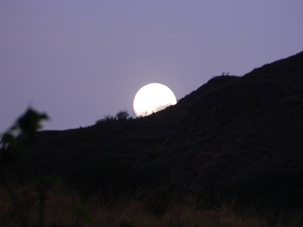 full moon goes asleep
