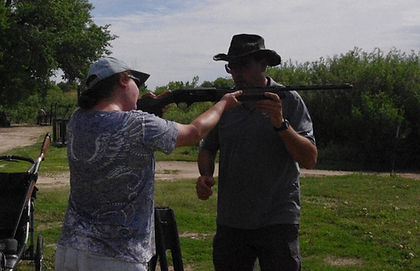 Dean Blanchard teaching beginner shotgun class