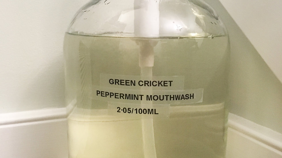 Peppermint Mouthwash by Green Cricket Lifestyle