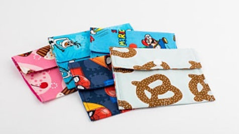 Zero Waste Lunch Bags (2 Pack) by Sew Happy