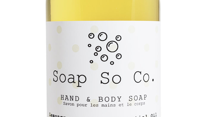Lemongrass & Lime Hand and Body Soap by Soap So Co