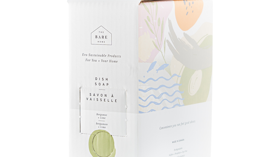 Bergamot+ Lime Dish Soap by The Bare Home