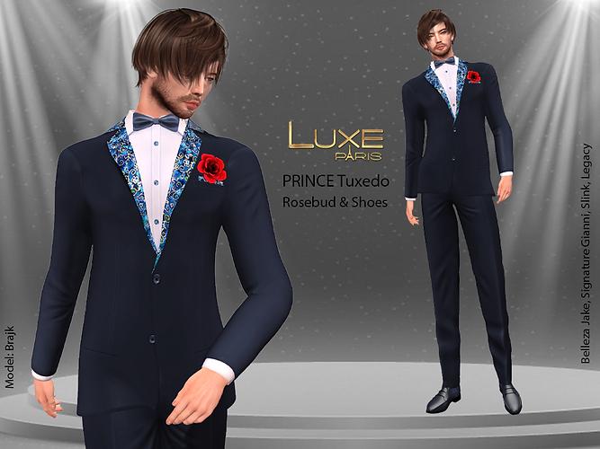 LUXE Paris PRINCE Tuxedo Rosebud Shoes.png