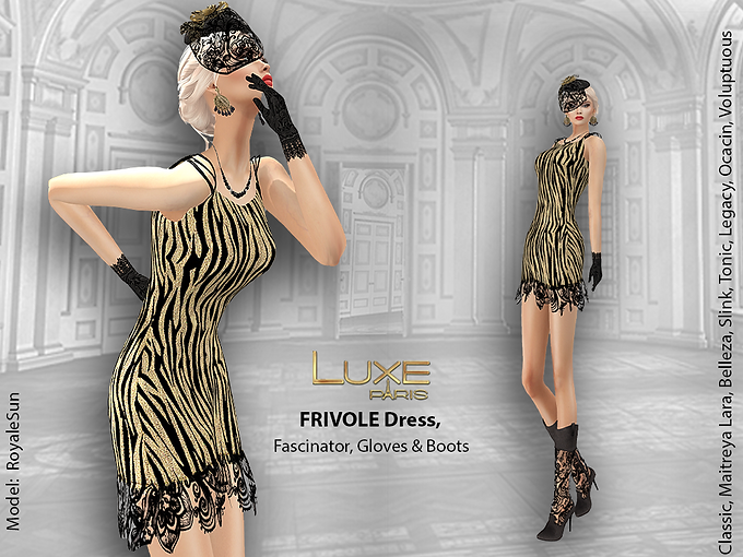 LUXE Paris FRIVOLE Dress Fascinator Gloves Boots.png