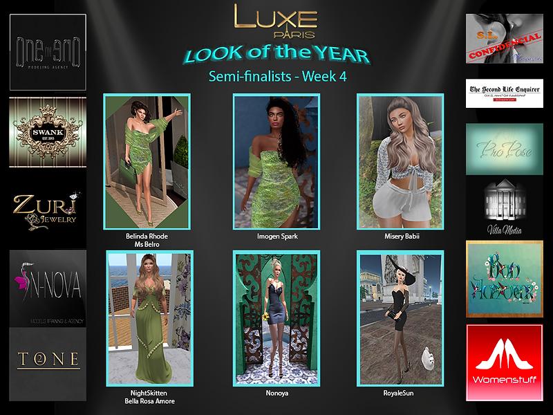 6 SEMI-FINALISTS Display Website WEEK 4.