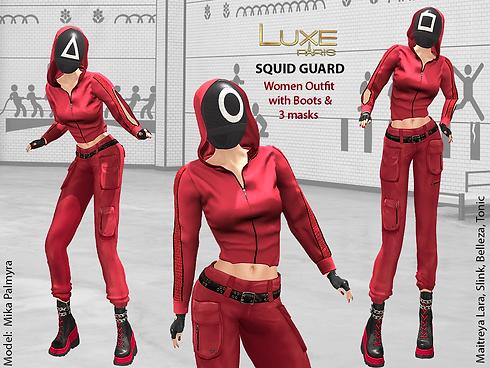 LUXE Paris SQUID GUARD Women Outfit Boots Masks.png